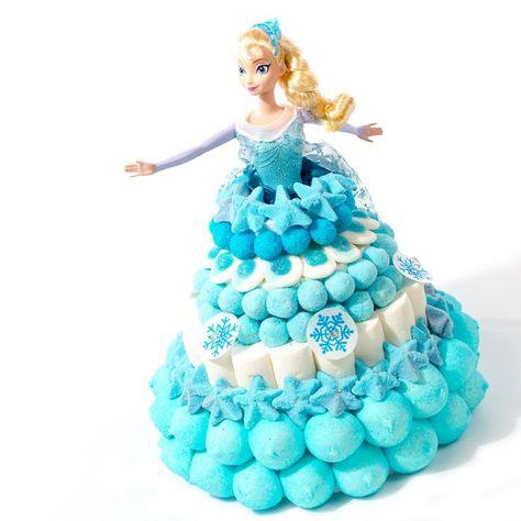 reine des neiges | Gateau de bonbons La Reine des Neiges