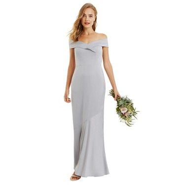 Oasis Pale Grey Amy Slinky Cowl Neck Maxi Dress Debenhams Lace Bridesmaid Dresses Multi Way Dress