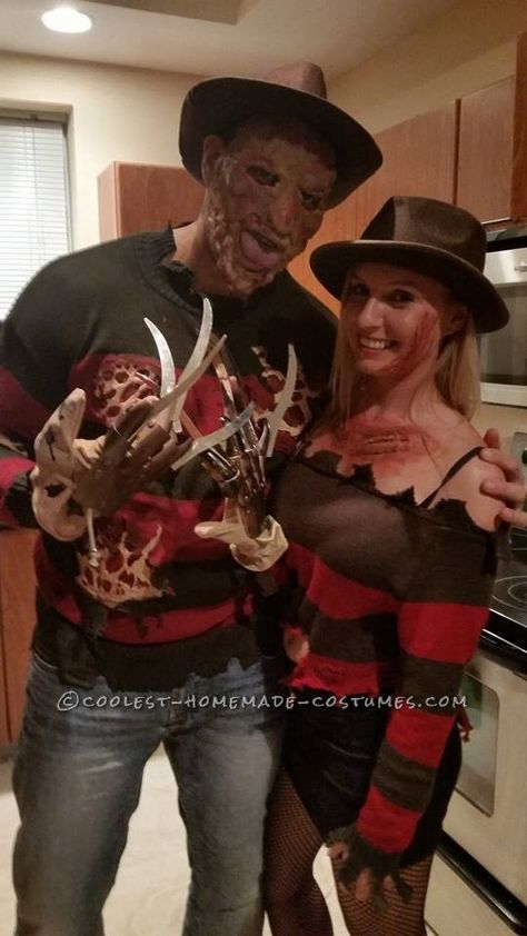 Mr. and Mrs. Freddy Krueger Couple Costume... Coolest Halloween Costume Contest
