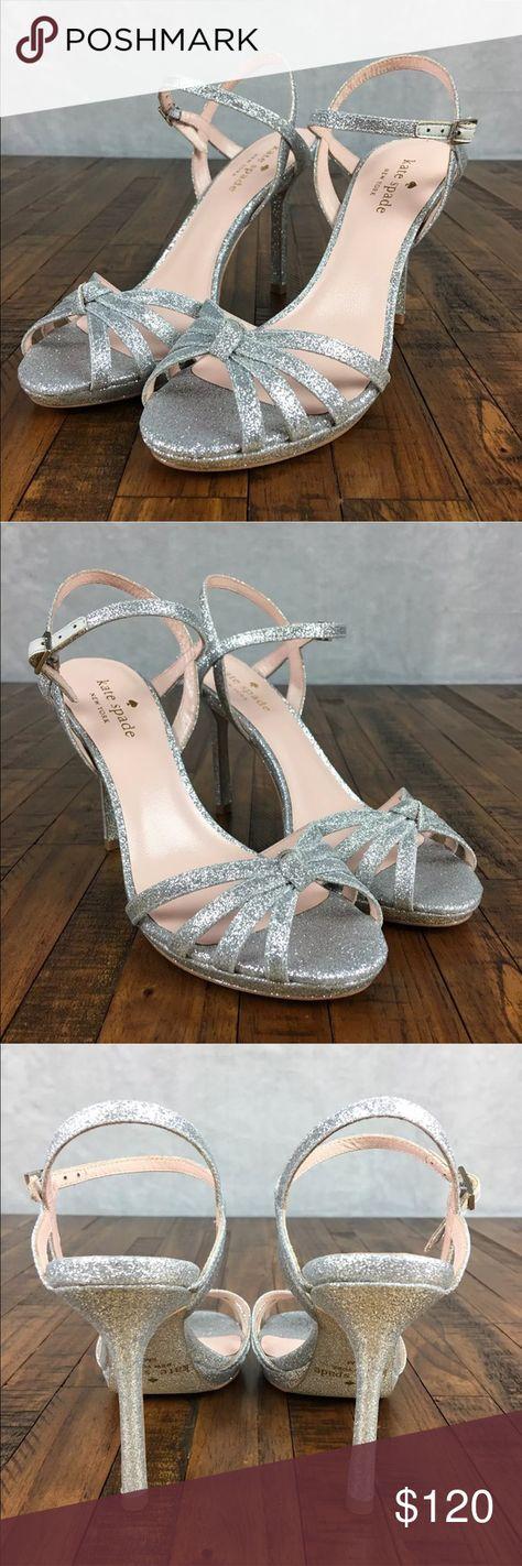 38818c3e834 NEW Kate Spade Florence Glitter Heels Sandals KATE SPADE NEW YORK FLORENCE  STRAPPY HEELS SANDALS Size  6
