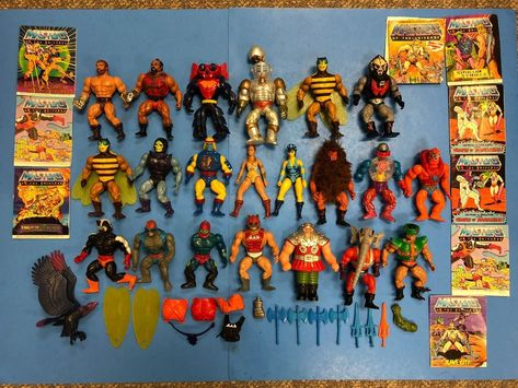 Action Figure Stands-Vintage Masters of the Universe - HE-MAN MOTU 82-88
