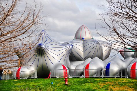 Immersive inflated domes in France - luminaria by architecture of air