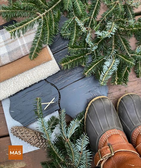 'Tis the season for winter plaids and rustic woods. 🌲 . #design #interiordesign #virginia #palette #designinspiration #flatlay #materialpalette #llbean #beanboots #beanoutsider #plaid #fraserfir #creatives #interiors #interiorinspo #inspiringinteriors #interiorideas #interiorlovers #theworldofinteriors #shakeitup #studiomascreative