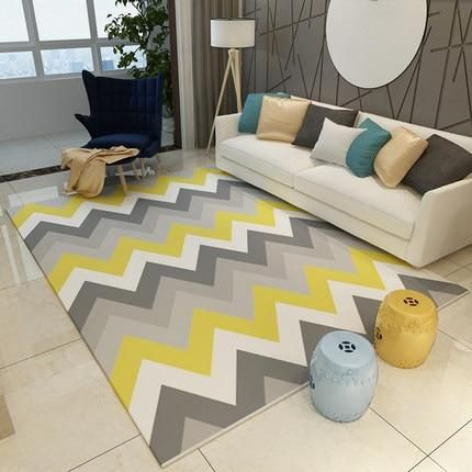 Modern Nordic Memory Foam Rug With Images Yellow Bedroom Decor