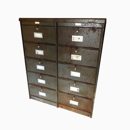 Small Industrial Filing Cabinet From Roneo 1970s Filing Cabinet Industrial Filing Cabinets Cabinet