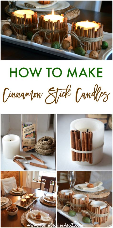 Cinnamon Stick Candles {fall ideas} Cinnamon Stick Candles {fall ideas},DIY und Selbermachen Cinnamon Stick Candles {fall ideas} – How to Make Cinnamon Stick Candles by Home Stories A to Z Related posts:Kastanienkranz basteln -. Craft Stick Crafts, Decor Crafts, Diy Crafts, Decor Diy, Decor Ideas, Decoration Pictures, Craft Ideas, Diy Decoration, Craft Party