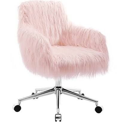 Fluffy Desk Chair Pink Office Chair Pink Desk Chair Home Office Chairs