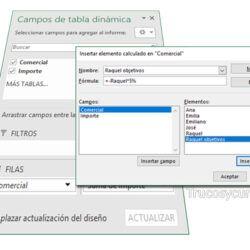 Elementos Calculados En Tablas Dinámicas Excel Tabla Dinámica Hojas De Cálculo Tablas