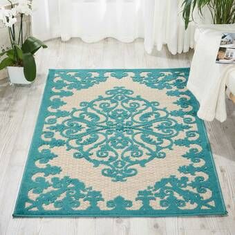 Naples Park Hand Tufted Wool Ivory Navy Area Rug Reviews Birch Lane Indoor Outdoor Area Rugs Outdoor Rugs Area Rugs