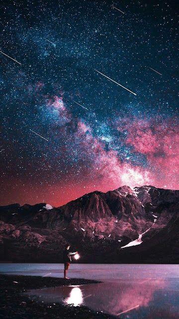 صور و خلفيات و رمزيات جميلة 2019 بجودة Hd للهواتف Night Sky Wallpaper Beautiful Wallpapers Starry Night Wallpaper