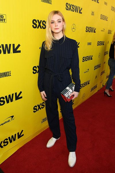 Elle Fanning attends the 'Galveston' premiere 2018 SXSW Conference and Festivals at Paramount Theatre.