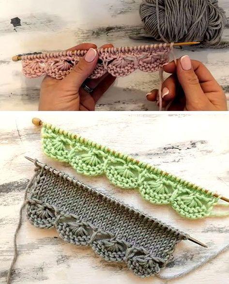 Knitting Help, Knitting Stiches, Easy Knitting Patterns, Lace Knitting, Knitting Projects, Crochet Stitches, Crochet Projects, Knit Crochet, Crochet Patterns
