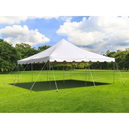 20 X 20 Weekender Standard Canopy Pole Tent White In 2020 Canopy Poles Party Tent Party Tents For Sale