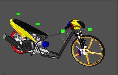Sketsa Motor Drag Mio