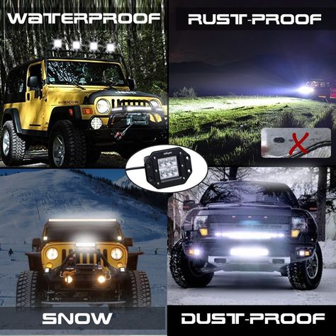 Amazon led light podseyourlife 18w led work light cree led 4x4 nilight 2pcs 18w flood led work lights jeep light bar off road light led light bar for suv boat 4x4 jeep truck bumper2 years warranty rating 475 stars mozeypictures Choice Image
