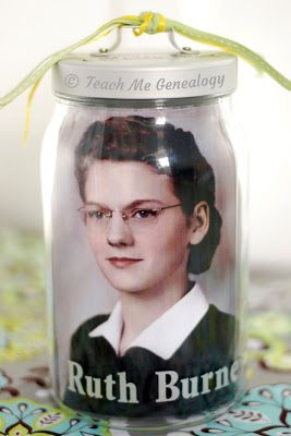 Gift Centerpieces?--Genealogy in a Jar - A Unique Gift. ~ Teach Me Genealogy. Easy instructions.