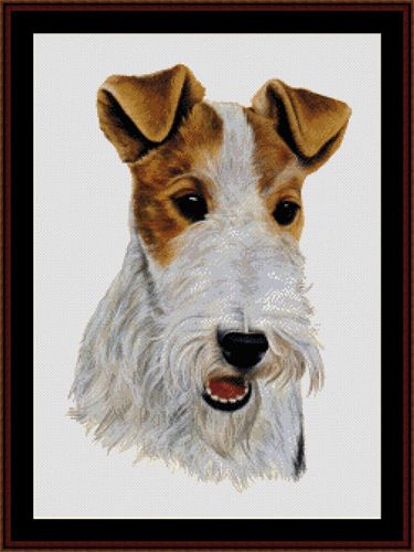 Wire Fox Terrier - Cross Stitch Collectibles fine art counted cross stitch pattern