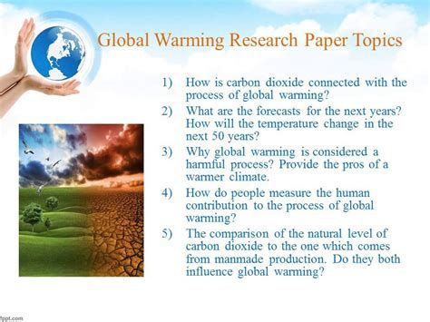 Global warming topics for research paper telecommunications specialist resume sample