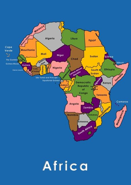 A2 POSTER MAPS OF AFRICA   LABELLED AND UNLABELLED $0.00 These