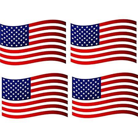 USA // UNITED STATES OF AMERICA RIPPLED MULTI PACK VINYL STICKERS FLAG