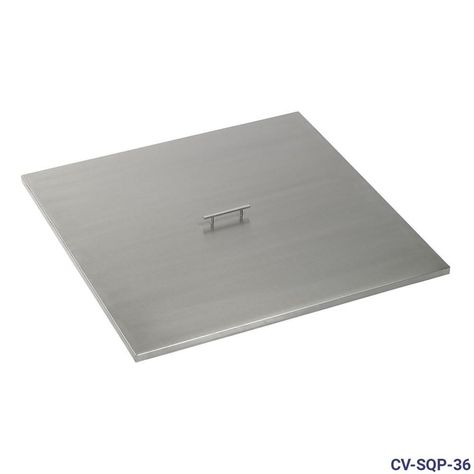 American Fire Glass Stainless Steel Cover For 36 In Square Drop In Fire Pit Pan Silver Fire Glass Stainless Steel Fire Pit Steel Fire Pit Ring
