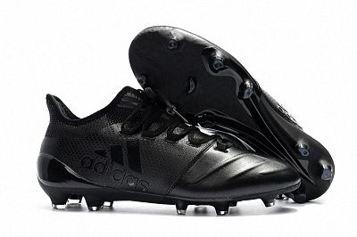 2018 Fifa World Cup Men Adidas X 17 1 Leather Fg Football Boots All Black Football Boots Cheap Football Boots All Black Adidas