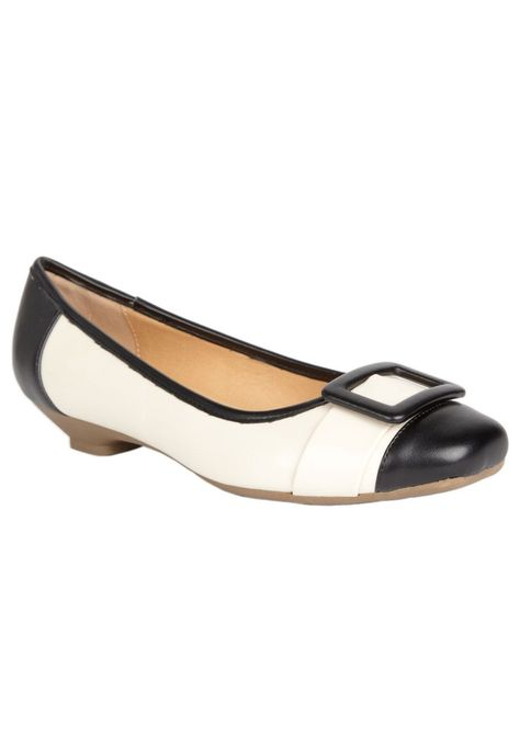 Ava' Flats CV D'lights™ in Bone Black Combo | Clothes