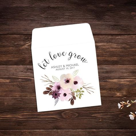 Wedding Seed Packets, 25 Wedding Favors, Let #seedpackets #seedfavors #weddingfavors #weddingseedfavor #weddingseedpackets #seedpacket #seedfavor #bridalshower #seedpacketenvelope #seedpacketfavor #letlovegrowfavors #wildflowerseeds #bridalshowerfavor