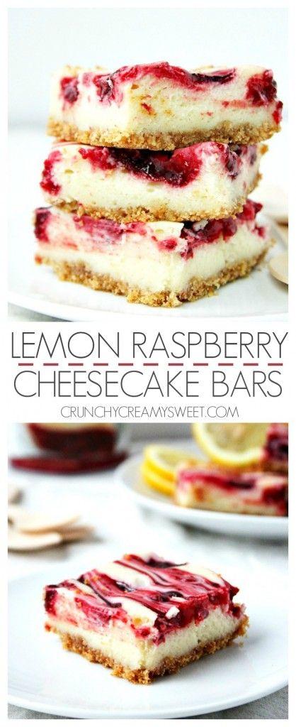 Lemon Raspberry Cheesecake Bars – Creamy cheesecake bars with ...