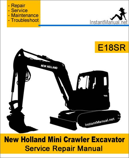Instant download New Holland E18SR Mini Crawler Excavator ... on