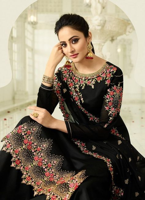 ffb7e9ee80 Black Traditional Embroidered Palazzo Suit - Hatkay. More Details · indu.  @indu0272. 18w. 45. Buy lavina Nx3 Georgette Embroidery Salwar ...