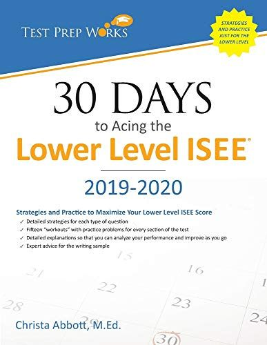 Epub Free 30 Days To Acing The Lower Level Isee Strategies And Practice For Maximizing Your Lower Level Isee Score Pdf Downlo Books To Read Pdf Download Ebook