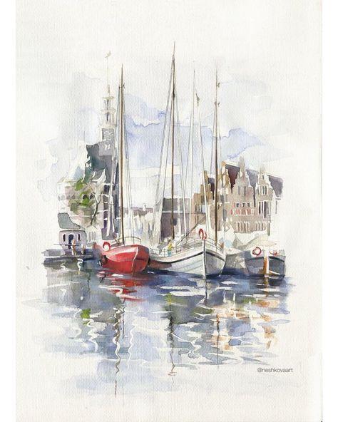 🎨 Watercolorist:@neshkovaart#waterblog #акварель #aquarelle #drawing #art #artist #artwork #painting #illustration #watercolor #aquarela