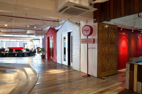 Media infrastructure company Migo has a creative office space for their staff located in Manila, Philippines. Designed by Utwentysix, the new office is meant to reflect the company's laid back, creative, and collaborative culture.