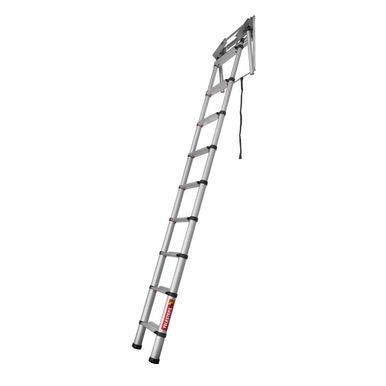 Telesteps 60324 Black Line Mini Telescopic Loft Ladder While Conventional Loft Ladders Have To Be Folded And Stored In The Attic In 2020 Loft Ladder Ladder Telesteps