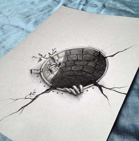 Lukisan 3d Di Kertas