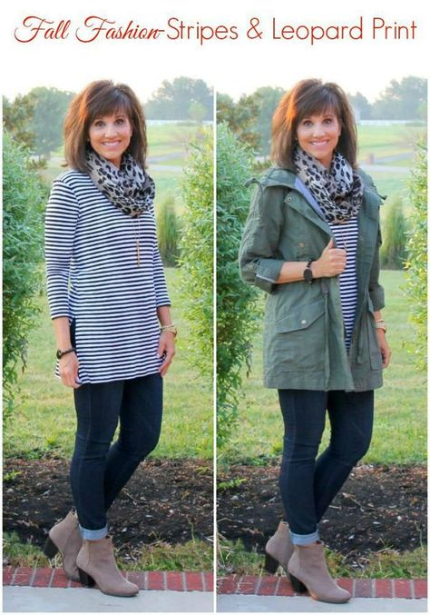 26 Days Of Fall Fashion (Day 1 I'm ready for some fall fashion and I thought it was only fitting that I start with stripes and leopard print since those are two of my favorite patterns to mix!