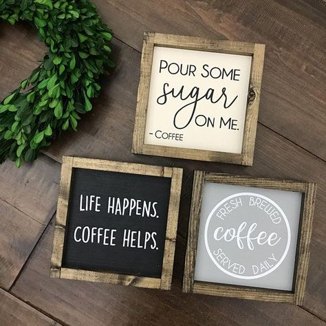 Fresh Brewed Coffee Served Daily Sign | Coffee Bar | Coffee Decor | Kitchen Sign | Kitchen Decor | Coffee Station | Coffee Sign Coffee Lover