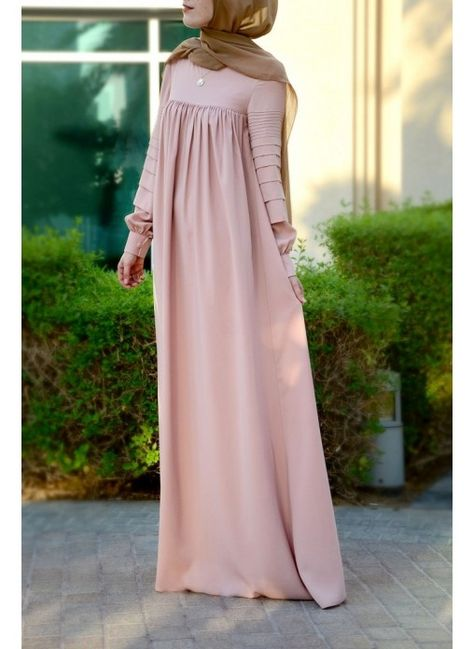 Modest long sleeve maxi dress full length stylish - much better without the belt!