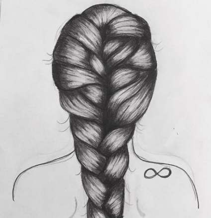 28 Trendy Ideas For Drawing Girl Back Hair Sketch Girl Hair Drawing Hair Sketch How To Draw Braids