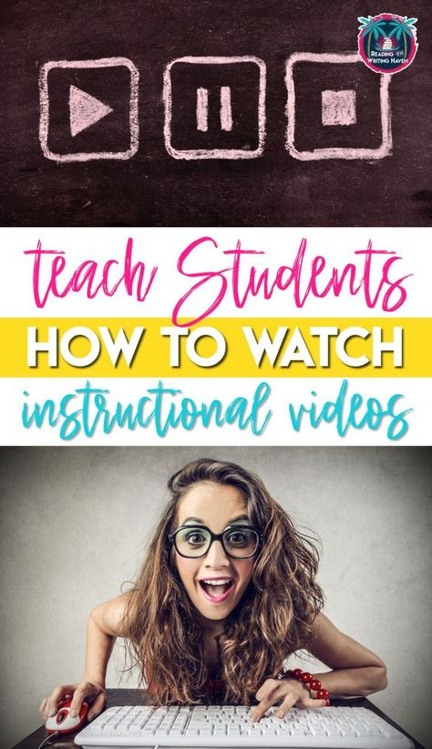 Flipped Classroom Videos Teach students how to watch instructional videos and implement flipped classrooms in your class today! Flipped Classroom, School Classroom, Google Classroom, Classroom Ideas, Instructional Coaching, Instructional Technology, Teaching Technology, Educational Technology, Technology Tools