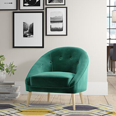 Rory Chair Fabric Emerald Velvet Barrel Chair Accent Chairs Chair Fabric