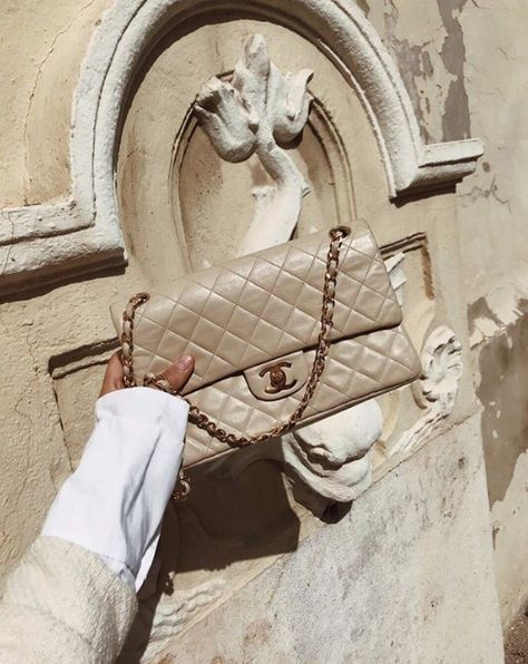 c9706c9b198 Bag | Beige | Chanel | Designer | White | Neutrals | Inspiration | More on  Fashionchick