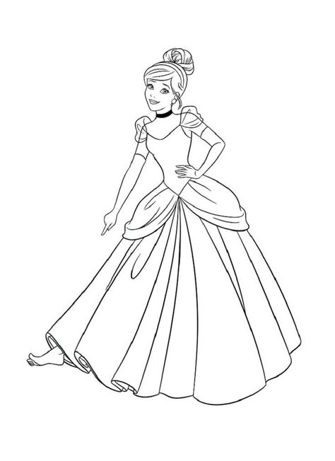 Cinderella Dress Coloring Pages Cinderella Coloring Pages