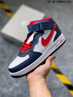 Nike Air Force 1 07 Wmns Mid White Navy