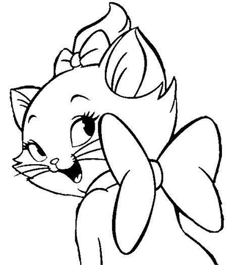 Desenhos Da Gatinha Marie Para Colorir Pintar Imprimir