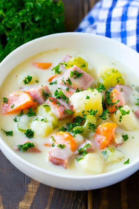 Ham and Potato Soup | Ham Soup | Potato Soup #soup #ham #potato #dinner #comfortfood #dinneratthezoo
