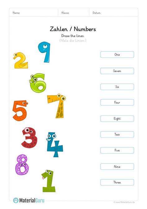 Englisch Lernen Zahlen Numbers Kindegarten Pdf Englisch Lernen Englisch Lernen Kinder Lernen