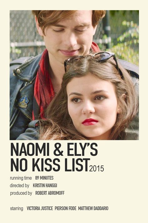 Naomi and Ely's no kiss list minimalist movie poster