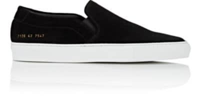 50% price detailed pictures pick up COMMON PROJECTS MEN'S SUEDE SLIP-ON SNEAKERS ...